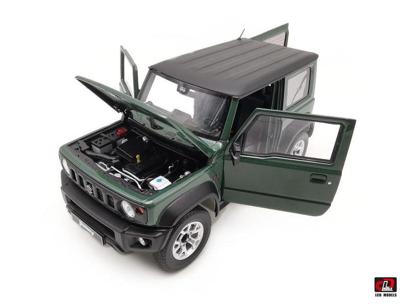 1//18 LCD Suzuki Jimny Sierra Suv Diecast Model Toy car Dark Green